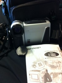 Camcorder, Sharp VL-H860 ViewCam Hi8 LCD includes case, all cords, battery pack, & manual, Like new