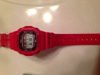 G-Shock watch, Luxury Watch, GLX-5600 G-Shock , The watch is red almost completely unused.