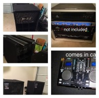 Dj equipment, Musical Instruments, Equipment, two B-52 LX1515V3 two way speakers 1000 watts rms a piece and two B-52 LX18v3 folded horn subwoofers price includes all cables amp rack that holds a pyle pqa 2100 and a europower ep 2000 crossover included. The chauvet light switch control is not included. Price is a bit negotiable. Also includes an Ibiza DJ Scratch 200 Dual CD USB MP3 Player/Mixer.