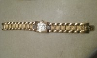woman Elgin watch, Luxury Watch, Elgin, Ladies watch w/mother if pearls dual &Austrian crystal accents