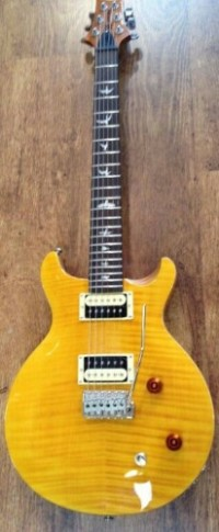 Paul Reed Smith Carlos Santana model guitar , Musical Instruments, Equipment, Mint condition yellow prs Santana  guitar with hard shell case