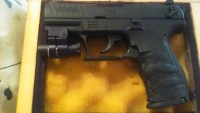 Walther p22 lr, Gun, Walther p22 lr, Case and laser light
