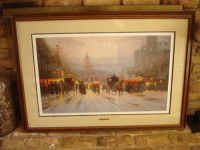 G Harvey - Pennsylvania Avenue, Other, Pennsylvania Avenue Lithograph by G. Harvey - 1988 - Signed LE - 706/2575