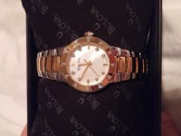 Woman watch, Luxury Watch, Bulova 98R168, Bulova woman 2 tone watch, 20 diamond accent, model 98R168