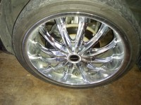 20 inch rims and tires, Other, 20 inch chrome rims and tires with locks and good tread