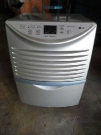 Lg Dehumidifier, Electronics, Lg, LHD45EL, 2014, LG 45 Pint Silver Dehumidifier, Model LHD45EL
