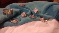 Diamond rings, Jewelry, Not sure, Silver, diamond rings, 7 in total,want to sell as a bundle.