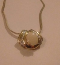 Designer diamond and opal necklace, Jewelry, Not sure, Very gorgeous, brand new only been wore twice