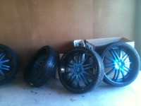 "4 - 24"" low profile rims & tires , Other, good condition - only a year old"