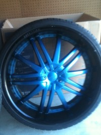 """4 - 24"""" rims & tires, Other, good condition - only a year old"""
