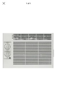 GE 5200 BTU Window Air Conditioner manual controls, GE, model# AEV05LT, Brand New in unopened box, 5200 BTU, 11.4 EER, 115 volts, SEER 11, Energy Star 11.4, fits windows 23-38 in wide, minimum height 12.5 in, 2 cooling 2 fan speeds, cools 100-150ft
