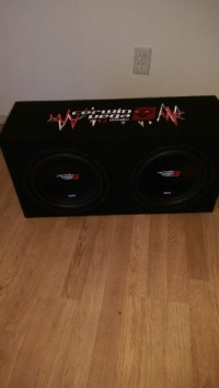Two new  twelve inch cerwin Vega subwoofers in the box , Other, Two cerwin Vega subs in a cerwin Vega box  brand new  been in my trunk