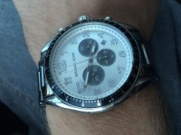 Michael Kors Watch, Luxury Watch, Michael Kors, Silver wrist band, black and white face