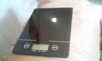 Digital Kitchen scale, Electronics, Electronic kitchen scale, EK9150J, 2013, 5in by 7in black flat kitchen scale