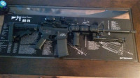 ar 15, Gun, smith and weston mp15 sport, quad rail,3xmagnifier,grip,bipod,red dot