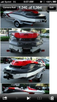 boat, Other, 2008 seadoo speedster 215 hp supercharged 45 hours of use