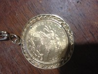 14k gold medal coin , Jewelry, 14k 21 grams, Dated 1885