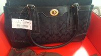 coach purse, Designer Wear & Handbags, Coach purse still has tag on it never ever been used MSRP IS 358$ all black pretty large sized