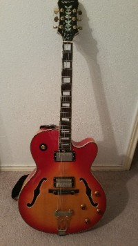 Epiphone Joe Pass Signature Emperor II Vintage Sunburst , Musical Instruments, Equipment, True Archtop Hollowbody Epiphone Joe Pass Signature Emperor II-PRO True Archtop  Hollowbody Vintage Sunburst Electric Guitar. Come with a hand-set 3-piece laminated hard Maple neck with a Rosewood fingerboard with pearl block inlays.