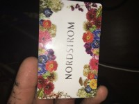 Norstroms gift card $298.61, Other, Nordstrom gift card for sale. Amount on card $298.61