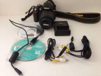 nikon D3200 with 18-55m lens, Electronics, Nikon D3200 DSLR Camera with 18-55mm VR Lens - Black, 2014, Excellent condition, only used a couple times. Includes software, cables, battery, and charger.
