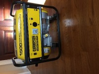Portable generator , Tools, Equipment, 1200 Watts Rated, 1500 Watts Maximum Output. Outlets: 1-120V Outlet Powered by Champion 80cc OHV Engine with Cast Iron Sleeve; CARB-California approved Runs for 10 hours on full tank of gas at 50-percent load