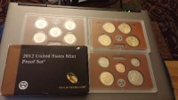 2012 Unites States Mint Proof Set, Precious Metal or Stones, 2012-S 14-Coin Proof Set including 5 America the Beautiful Quarters, 4 Presidential Dollars, and 5 Regular Denominations from Cent to Half Dollar
