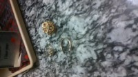 Gold, Precious Metal or Stones, Solid gold. 2 14 K rings, 1 10K ring. One ring the diamond fell out so it is just a band