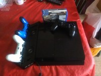 ps4 3 controllers and 5 games, Electronics, PlayStation 4 , 2014, Comes with hdmi 4 games and 3 controllers also with the PlayStation stand that it's also a charger for two controllers