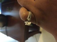 Engagement ring, Jewelry, 1 carat, Zales