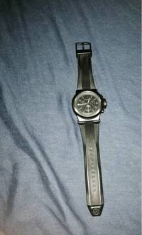 Michale kors watch, Black Michael Kors watch with black silicone band, Like new