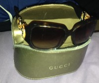 WOMANS GUCCI SUNGLASSES, Designer Wear & Handbags, WOMANS GUCCI OVAL TOURTISE SHELL SUNGLASSES WITH CASE