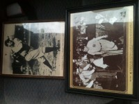 2 Babe Ruth Prints, One with signature., Antique, Collectible, 2 Babe Ruth Prints.  Pre-1950.  One with signature (most likely stamped, haven't removed it from the frame yet).  Been in storage for at least 30 years.