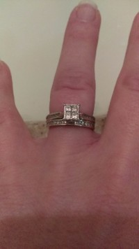 wedding set, Jewelry, .5 carat white gold, Purchased from zales for $1800