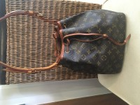 Louis Vuitton Petite Noe, Designer Wear & Handbags, Date code SD0071. Comes with dust bag. Patina is darker from use.