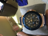 Guess watch, Luxury Watch, http://shop.guess.com/en/Catalog/View/U0247G3, 2-3 months old guess watch with blue and gold color in good condition.