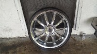 22 inch rim, Other, Rims are new even the tires but one of the rim is bent just a little bit  on the edge