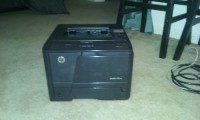 HP Laserjet 401n, Electronics, Hewlett Packard, 2013, HP Laserjet 401n B/W Laser Printer, it has maybe been used once since I got it.  It comes with power and printer cables, brand new toner cartridge.