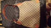 Gucci handbag, Designer Wear & Handbags, Authentic Tan Gucci hobo handbag with range leather.  Original bag and box.