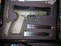 9 mm Springfield armory xdm, Gun, Springfield Armory XDM - 9, 2 19 round magazines, case, Springfield holster, carry case,