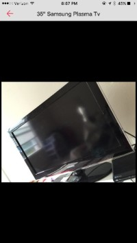 "35"" Samsung Plasma Tv , Electronics, Samsung , 2011, ""35, great condition, touchscreen menu"