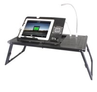 Levo Portable Desk w/charging station, Other, Levo MTM 33148 portable charging table. Allows for simultaneous charging of phone & ipad/tablet. Lamp included. Lithium battery.