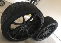 rohana RC10, Other, Rohana RC10 Rims Matte Black 22*9 / 22*10.5 with tires. Bought them for BMW X3 a year ago.