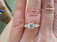Super nice platium set, Diamond ring platium setting 14 carot gold with a total of 3/4 cart., Like new
