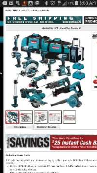 Makita lithium ion cordless 15 piece set, Tools, Equipment, Makita lithium ion cordless 15 piece set