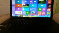 laptop, Toshiba  black with windows 8, serial number: 3D226378Q, Like new