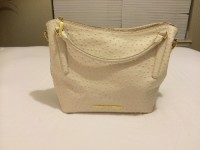 Brahmin designer handbag , Designer Wear & Handbags, Excellent condition Brahmin totebag color:cream ostrich NO MATCHING WALLET, dust bag included