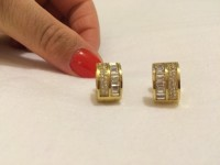 Michael Kors designer earrings , Jewelry, Michael Kors earrings , Michael Kors diamond earrings in great condition, gold tone, shiny, and elegant. Dust bag and orginal box NOT INCLUDED