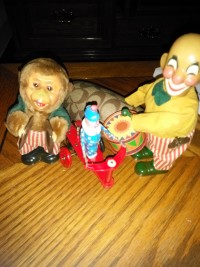 Antique tin toys - wind up's, Antique, Collectible, monkey & drums,