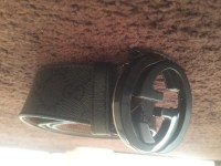 Gucci belt, Designer Wear & Handbags, Authentic Gucci belt, all black, monogram